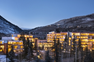 Vail Spa Front View Dusk